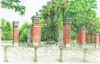 「九大箱崎キャンパスを描く」展、ご好評につき3/13まで会期延長いたします。