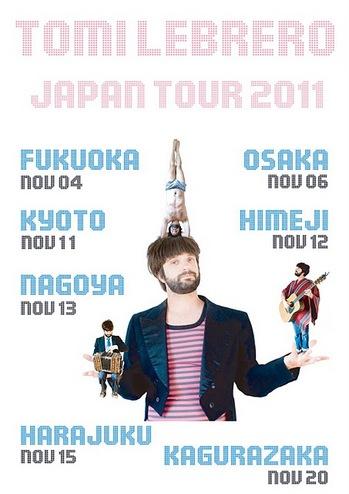 トミ・レブレロJAPAN TOUR 2011を開催します!