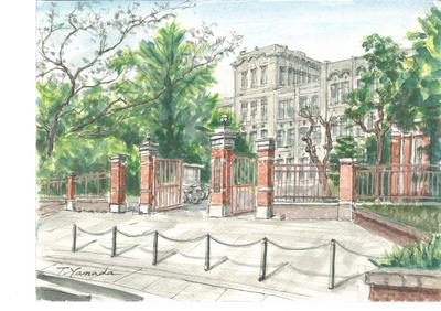 「九大箱崎キャンパスを描く -山田達男水彩画展-」を開催します。