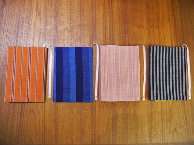 IIE 会津木綿のリバーシブルブックカバー