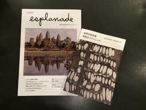 福岡市美術館ニュース「エスプラナード」の最新号が届きました!